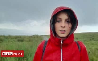 Gran Bretagna, 321 km a piedi a 11 anni per sensibilizzare sul clima
