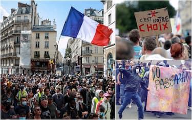 Proteste green pass Parigi