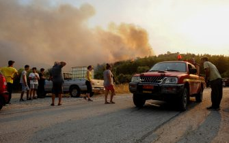 I danni provacati dagli incendi in Grecia
