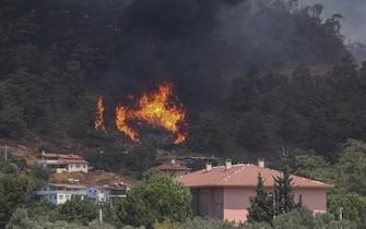 I danni provacati dagli incendi in Turchia