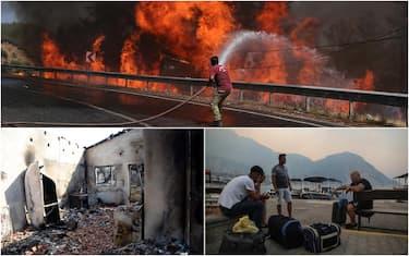 Incendi in Grecia e Turchia