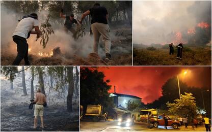 Grecia, roghi fuori controllo in Attica. Evacuati turisti. FOTO