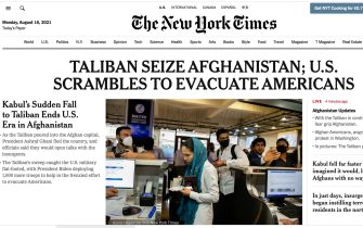 Afghanistan, il titolo del The New York Times