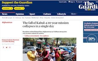 Afghanistan, il titolo del The Guardian