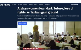 Afghanistan, il titolo della Nbc News