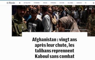 Afghanistan, il titolo di Le Monde