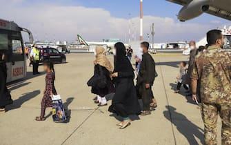 arrivi di oggi a Fiumicino da Kabul