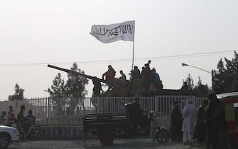 HERAT, AFGHANISTAN - AUGUST 18: Taliban patrol in Herat city after took control in Herat, Afghanistan, on August 18, 2021 as Taliban take control of Afghanistan after 20 years. (Photo by Mir Ahmad Firooz Mashoof/Anadolu Agency via Getty Images)