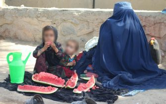 From lefr Rahima with her  mohter and young sister left their home-town, Lashkargah, due to conflict and now they are in Kandahar Haji IDP camp.   In the last few months, the conflict has escalated and there are over 18 million people in need of humanitarian assistance. 4 million children are out of school. Around 400,000 people have left their homes to seek refuge; over half are children. We've prepositioned essential supplies, such as ready-to-use therapeutic food (RUTF) and vaccines throughout the country so that our partners can deliver We're scaling-up lifesaving water & sanitation efforts, such as water trucking and hygiene kits However, as fighting intensifies and spreads, the operating space for humanitarians providing life-saving assistance continues to shrink dramatically.