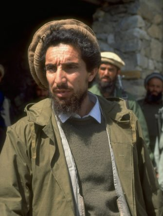 Ahmad Shah Massoud, ldr. of Jamiat-i-Islami mujahedin, top rebel mil. cmdr. in civil war against about-to-be defeated Kabul govt.    (Photo by Robert Nickelsberg/Getty Images)