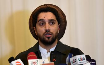 """Ahmad Massoud, the son of the largely revered late military and political Afghan leader Ahmad Shah Massoud also known as """"The Lion of Panjshir"""", speaks during a press conference at the Intercontinental Hotel in Kabul on February 27, 2020. (Photo by WAKIL KOHSAR / AFP) (Photo by WAKIL KOHSAR/AFP via Getty Images)"""