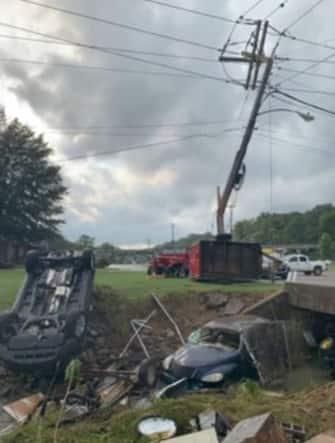 I danni dell'alluvione in Tennessee