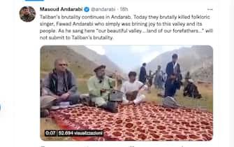 Tweet dell'ex ministro dell'interno afghano