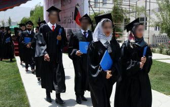 Students attend their graduation ceremony at The American University of Afghanistan (AUAF) in Kabul Afghanistan on 15 July 2017. ANSA/HEDAYATULLAH AMID