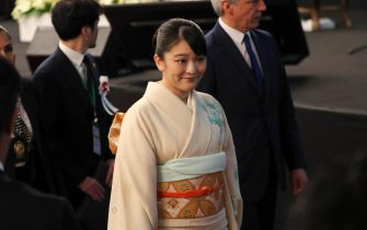 epa07723173 Japan's Princess Mako of Akishino (C) attends a meeting with members of Japanese-ascent communities, in Santa Cruz, Bolivia, 17 July 2019, as part of her official visit on the occasion of the 120th anniversary of the Japanese migration in the country.  EPA/Martin Alipaz