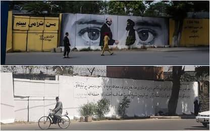 Afghanistan, murale iconico cancellato dai talebani a Kabul