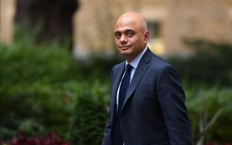 Britain's Health secretary Sajid Javid arrives in Downing street in London on September 10, 2021. (Photo by DANIEL LEAL-OLIVAS / AFP) (Photo by DANIEL LEAL-OLIVAS/AFP via Getty Images)