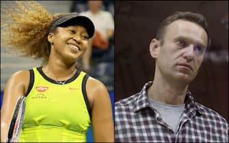 la tennista Naomi Osaka e il dissidente russo Alexei Navalny
