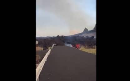 Eruzione vulcano alle Canarie, le immagini del fiume di lava. VIDEO