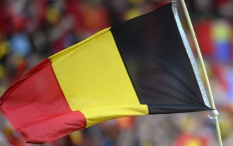 epa05362564 Belgium supporters wave the Belgian national flag before the UEFA EURO 2016 group E preliminary round match between Belgium and Italy at Stade de Lyon in Lyon, France, 13 June 2016.  (RESTRICTIONS APPLY: For editorial news reporting purposes only. Not used for commercial or marketing purposes without prior written approval of UEFA. Images must appear as still images and must not emulate match action video footage. Photographs published in online publications (whether via the Internet or otherwise) shall have an interval of at least 20 seconds between the posting.)  EPA/CJ GUNTHER   EDITORIAL USE ONLY