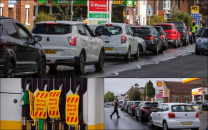 Uk, ancora emergenza benzina: stazioni chiuse e code