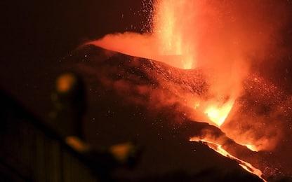 Vulcano Canarie, il drone riprende gli edifici distrutti dalla lava