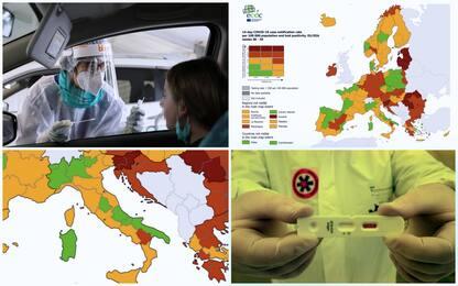 Mappa Ecdc: aumentano regioni italiane in verde. Basilicata in rosso