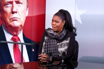 WASHINGTON, DC - NOVEMBER 01: Sky News gears up to provide special coverage of the U.S. Election with a rehearsal, as Omarosa Manigault Newman prepares for the special election program, AMERICA DECIDES, on Sunday, November 1 in Washington D.C. (Photo by Paul Morigi/Getty Images for Sky News)