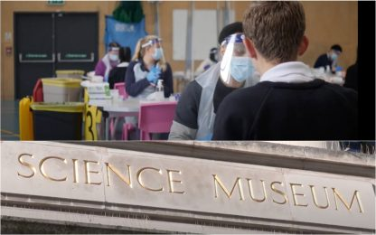 Londra, Museo della Scienza usato come hub vaccinale. VIDEO