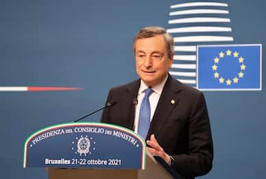 Consiglio europeo, Draghi: su migranti no a finanziamento Ue per muri