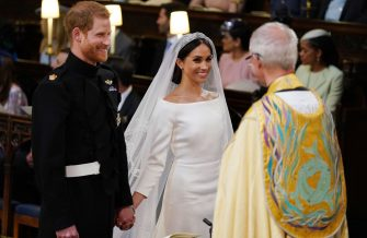 WINDSOR, UNITED KINGDOM - MAY 19:  Prince Harry and Meghan Markle during their wedding service, conducted by the Archbishop of Canterbury Justin Welby in St George's Chapel at Windsor Castle on May 19, 2018 in Windsor, England. (Photo by Dominic Lipinski - WPA Pool/Getty Images)