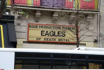 Le Bataclan concert hall,  4 days after the terrorist attacks in Paris . terrorist attacks in Paris . 17/11/2015-Paris, FRANCE./BENHAMOU_745.01/Credit:LAURENT BENHAMOU/SIPA/1511180801 (PARIS - 2015-11-18, LAURENT BENHAMOU/SIPA / IPA) p.s. la foto e' utilizzabile nel rispetto del contesto in cui e' stata scattata, e senza intento diffamatorio del decoro delle persone rappresentate