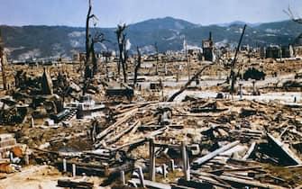 (Original Caption) Hiroshima, Japan: General view of Hiroshima, Japan, after atomic bombing during World War II.