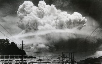 NAGASAKI, JAPAN - AUGUST 8: A photograph of the atomic bomb dropped in Nagasaki shows how it exploded 50m above ground on August 8, 2005 in Nagsaki, Japan. August 9,1945 Thursday 11:02 am, the US B-29 superfortress Bockscar dropped an atomic bomb on northern part of Nagasaki City, The city marks the 60th anniversary of the atomic bombing on Aug. 9. (Photo by Hiromiti Matuda/Handout from Nagasaki Atomic Bomb Museum/Getty Images)