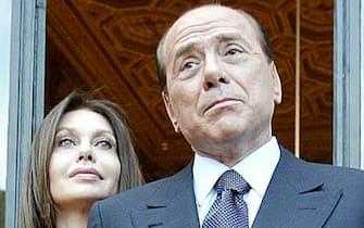 Silvio Berlusconi e Veronica Lario  ANSA/DANILO SCHIAVELLA
