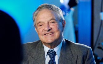 Jeorge Soros, CEO and  Chairman of the Soros Foundations Network speaks with Grant Clark of BET News about the contributions of his organization to the global fight against the AIDS Pandemic at the New York Offices of the Soros Foundations Network on October 4, 2006 in New York City