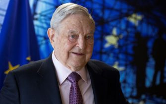 George Soros, Founder and Chairman of the Open Society Foundations arrives for a meeting in Brussels, on April 27, 2017.  Meeting will mainly focus on situation in Hungary, including legislative measures that could force the closure of the Central European University in Budapest. / AFP PHOTO / POOL / OLIVIER HOSLET        (Photo credit should read OLIVIER HOSLET/AFP via Getty Images)