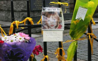 ROTHLEY, UNITED KINGDOM - MAY 09:  Ribbons of support and messages for the missing girl Madeleine McCann are tied to railings in the village centre of Rothley on May 9, 2007 in Rothley, England.  (Photo by Matthew Lewis/Getty Images)