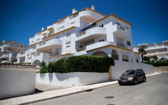 Picture shows the house in Lagos, Portugal, where the three-year-old British girl Madeleine McCann disappeared in 2007 while on holidays with her family, on June 5, 2020. - Portuguese justice said to be questioning witnesses as part of the investigation into the 2007 disappearance of the British girl Madeleine McCann, whose case re-emerged on May 3, 202 with the identification of a new German suspect. (Photo by CARLOS COSTA / AFP) (Photo by CARLOS COSTA/AFP via Getty Images)