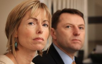 Kate and Gerry McCann speak to reporters on February 19, 2010 in London. Yesterday the McCann's won a legal battle to stop the publication of a book entitled Maddie: The Truth Of The Lie in Portugal. Three year old Madeleine McCann went missing while on holiday with her parents in the Algarve region of Portugal in May 2007