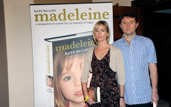 MADRID, SPAIN - OCTOBER 19:  Kate McCann and Gerry McCann present the spanish edition of their book 'Madeleine' at the Wellington Hotel on October 19, 2011 in Madrid, Spain.  (Photo by Fotonoticias/WireImage)