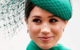 LONDON, UNITED KINGDOM - MARCH 09: (EMBARGOED FOR PUBLICATION IN UK NEWSPAPERS UNTIL 24 HOURS AFTER CREATE DATE AND TIME) Meghan, Duchess of Sussex attends the Commonwealth Day Service 2020 at Westminster Abbey on March 9, 2020 in London, England. The Commonwealth represents 2.4 billion people and 54 countries, working in collaboration towards shared economic, environmental, social and democratic goals. (Photo by Max Mumby/Indigo/Getty Images)