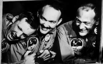 I tre astronauti dell'Apolo 11 Neil A. Armstrong (s), Michael Collins (c) e Buzz Aldrin.  ANSA