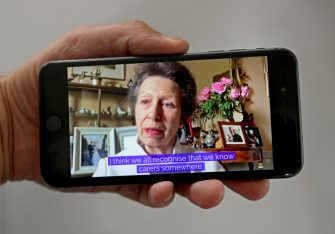 LONDON, ENGLAND - JUNE 11: In this photo illustration, Princess Anne, Princess Royal and Queen Elizabeth II speak to carers via video call to mark Carers Week 2020 on June 11, 2020 in London, England.  Princess Anne, Princess Royal founded Carers Trust, formally known as The Princess Royal Trust, to recognise and support carers across the UK. (Photo by Chris Jackson/Getty Images)