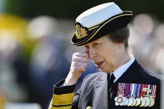 SOUTH QUEENSFERRY, SCOTLAND - MAY 28:  Princess Anne, Princess Royal attends a service at a war graves cemetery to mark the Battle of Jutland on May 28, 2016 in South Queensferry,Scotland. The events begin a weekend of commemoration leading up to the anniversary on 31 May and 1 June to mark the centenary of the largest naval battle of World War One where more than 6,000 Britons and 2,500 Germans died in the Battle of Jutland.  (Photo by Jeff J Mitchell/Getty Images)