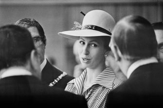 Anne, Princess Royal, attends a formal event, UK, 13th June 1975. (Photo by Wood/Evening Standard/Hulton Archive/Getty Images)
