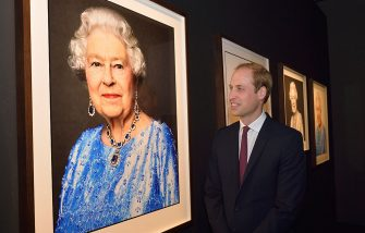 SHANGHAI, CHINA - MARCH 03:  Prince William, Duke of Cambridge admires the David Bailey Portrait of the Queen as he visits the GREAT British Festival of Creativity on March 3, 2015 in Shanghai, China. Prince William, Duke of Cambridge is on a four day visit to China. He is the most senior royal to visit China since the Queen and Duke of Edinburgh in 1986. His visit follows on from a successful four day visit to Japan  (Photo by Arthur Edwards - WPA Pool/Getty Images)