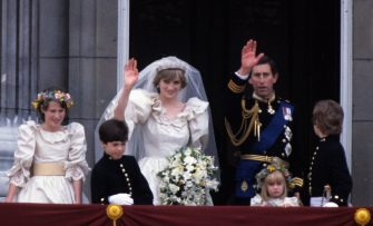 LONDON - JULY 29: (FILE PHOTO) Prince Charles, Prince of Wales and Diana, Princess of Waleswave from the balcony of Buckingham Palace following their wedding July 29, 1981 in London, England.   (Photo by Anwar Hussein/Getty Images)