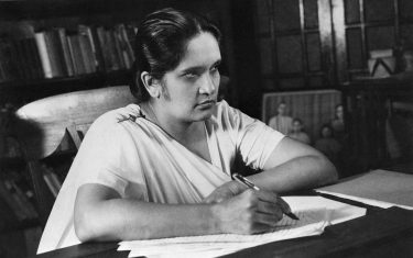 (Original Caption) 7/21/60-Colombo, Ceylon: Mrs. Sirima Bandaranaike (above in recent photo), who led her neutral-leftist Sri Lanka (freedom) Party to an overwhelming parliamentary victory, became Ceylon's seventh prime minister July 21st, the first woman beleived to head of governent in modern history.