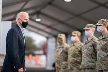Joe Biden arriva in Texas